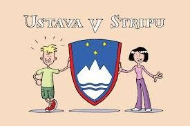 Ustava v stripu : [ilustrirana Ustava Republike Slovenije - izbor členov] (naslovnica)